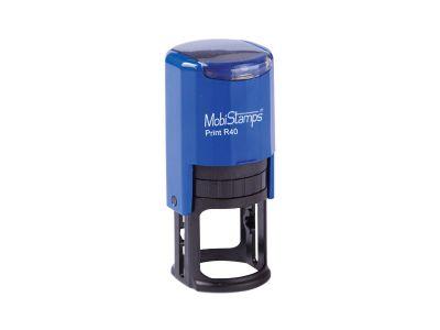 - Mobi Stamps Otomatik Kaşe R-40 Mavi Renk