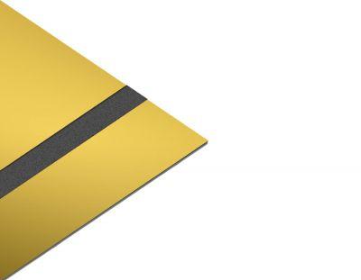 - Rezopal Abs Lazer kazıma plakası Altın-Siyah Parlak 0.8mm