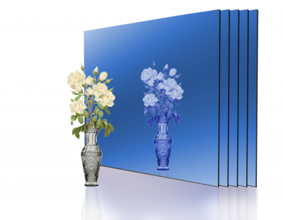 - 1,8mm Mavi Ayna Pleksi - 30x40cm ( 4 Parça)
