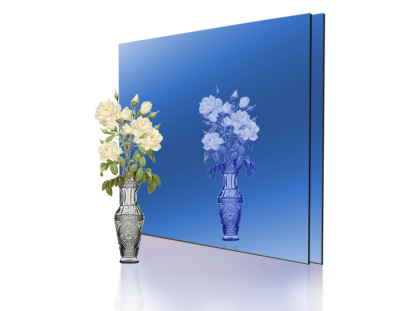 - 1,8mm Mavi Ayna Pleksi - 60x40 Cm ( 1 Parça )