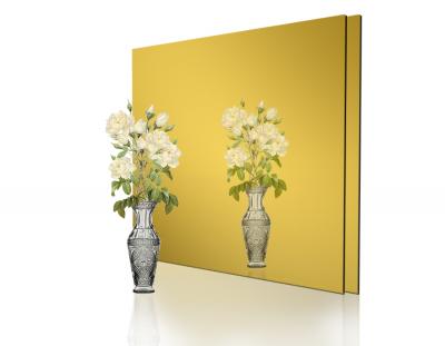 - 1mm Ayna Pleksi Altın - Yapışkanlı 60x40 Cm ( 1 Parça )