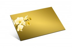- 1mm Ayna Pleksi Altın - Yapışkansız 81x61 Cm