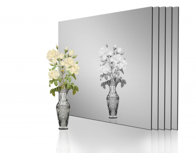 - 1mm Ayna Pleksi Gümüş - Yapışkanlı 30x40 Cm ( 4 Parça)