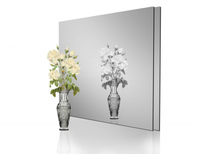 - 1mm Ayna Pleksi Gümüş - Yapışkansız 60x40 Cm