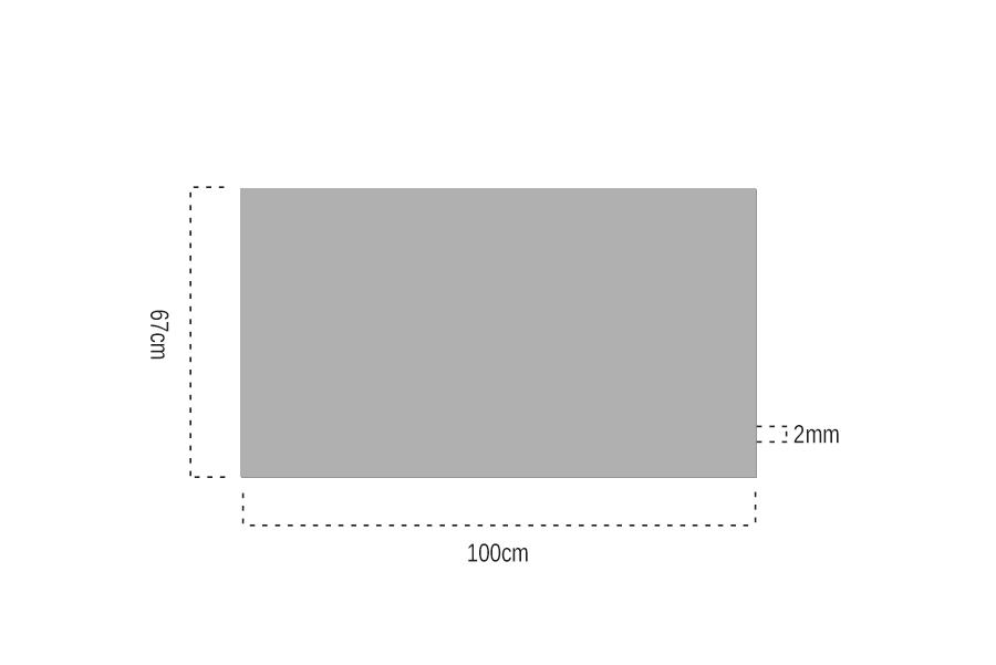 2mm Şeffaf Pleksiglas 67x100 cm