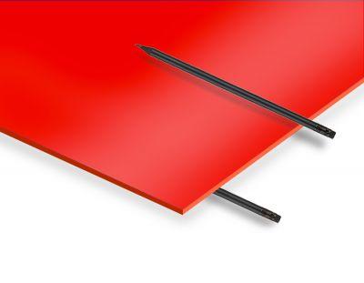 - 2.8 mm Kırmızı Renkli Pleksiglas 67x100cm