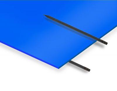 - 2.8 mm Mavi Renkli Pleksiglas 30x40 Cm