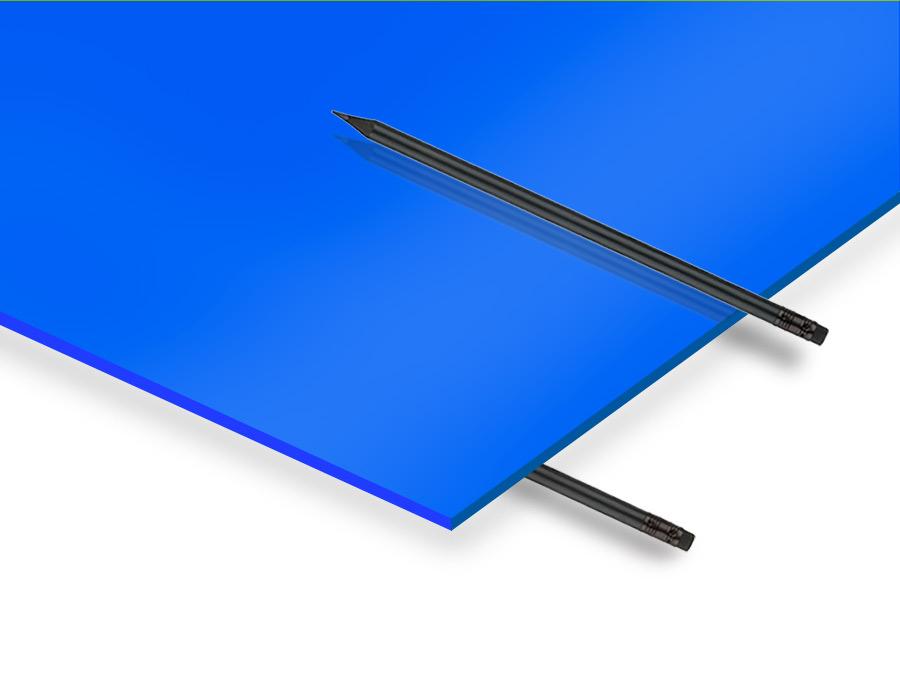 2.8 mm Mavi Renkli Pleksiglas 67x100cm