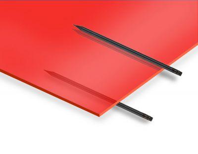 - 2.8 mm Transparan Kırmızı Pleksiglas 67x100cm