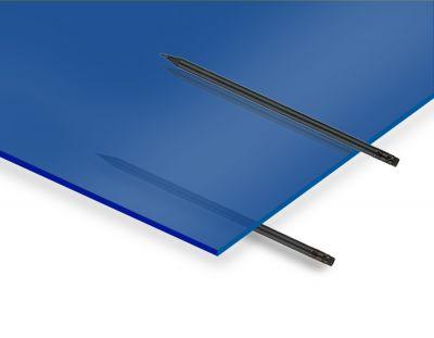- 2.8 mm Transparan Mavi Pleksiglas 30x40 Cm