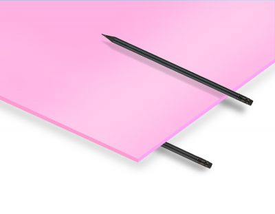 - 2.8 mm Pembe Renkli Pleksiglas 33x50 Cm