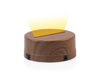 - 3D Gece Lamba Kaidesi - Ahşap - Led Rengi - Sarı