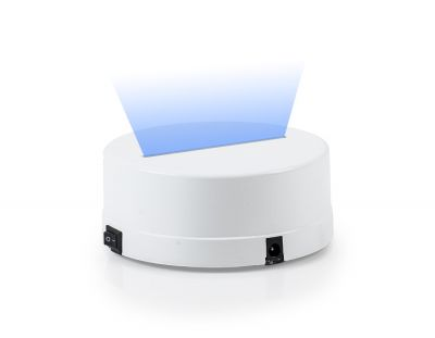 - 3D Gece Lamba Kaidesi - Beyaz - Led Rengi - Mavi
