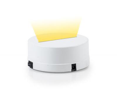 - 3D Gece Lamba Kaidesi - Beyaz - Led Rengi - Sarı
