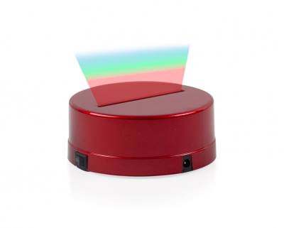 - 3D Gece Lamba Kaidesi - Kırmızı - Led Rengi - RGB