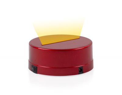 - 3D Gece Lamba Kaidesi - Kırmızı - Led Rengi - Sarı