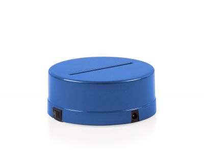 - 3D Gece Lamba Kaidesi - Mavi - Led Rengi - Beyaz