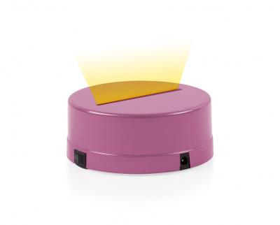- 3D Gece Lamba Kaidesi - Pembe - Led Rengi - Sarı