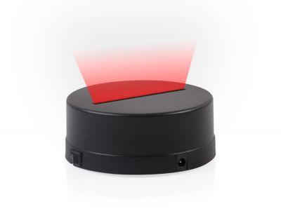 - 3D Gece Lamba Kaidesi - Siyah - Led Rengi - Kırmızı