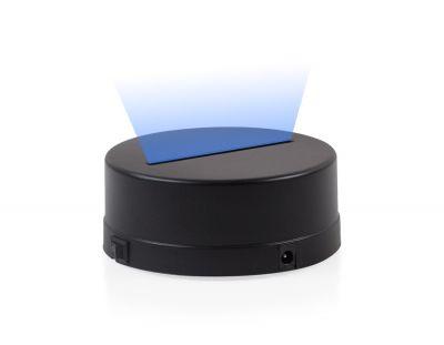 - 3D Gece Lamba Kaidesi - Siyah - Led Rengi - Mavi