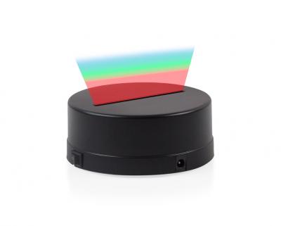 - 3D Gece Lamba Kaidesi - Siyah - Led Rengi - RGB