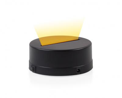 - 3D Gece Lamba Kaidesi - Siyah - Led Rengi - Sarı