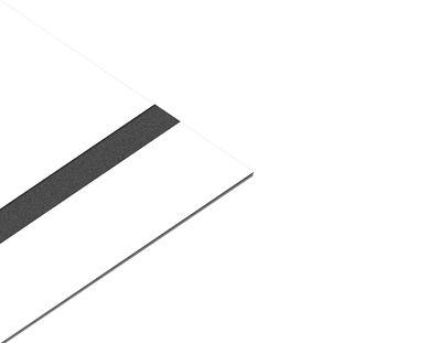 - Akrilik Kazıma Plakası Beyaz-Siyah Parlak 0.8mm - 60x60cm