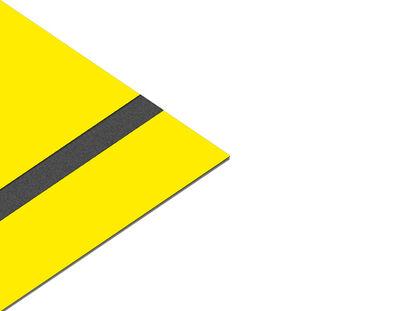- Akrilik Kazıma Plakası Sarı-Siyah Parlak 0.8mm - 60x60cm