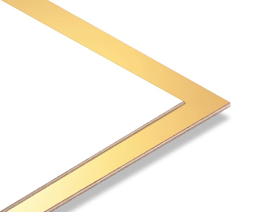 Altın Yaldız - Beyaz 2.7mm Mdf - 85x68 cm (1 Parça)