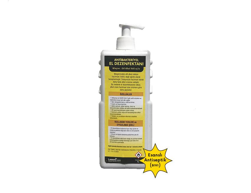 Antibakteriyel El Dezenfektanı 1 Litre Sıvı (Esanslı)