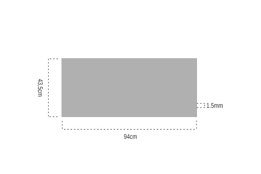 Bambu Papel 1.5mm Bantlı 94x43,5cm