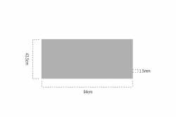 Bambu Papel 1.5mm Bantlı 94x43,5cm - Thumbnail