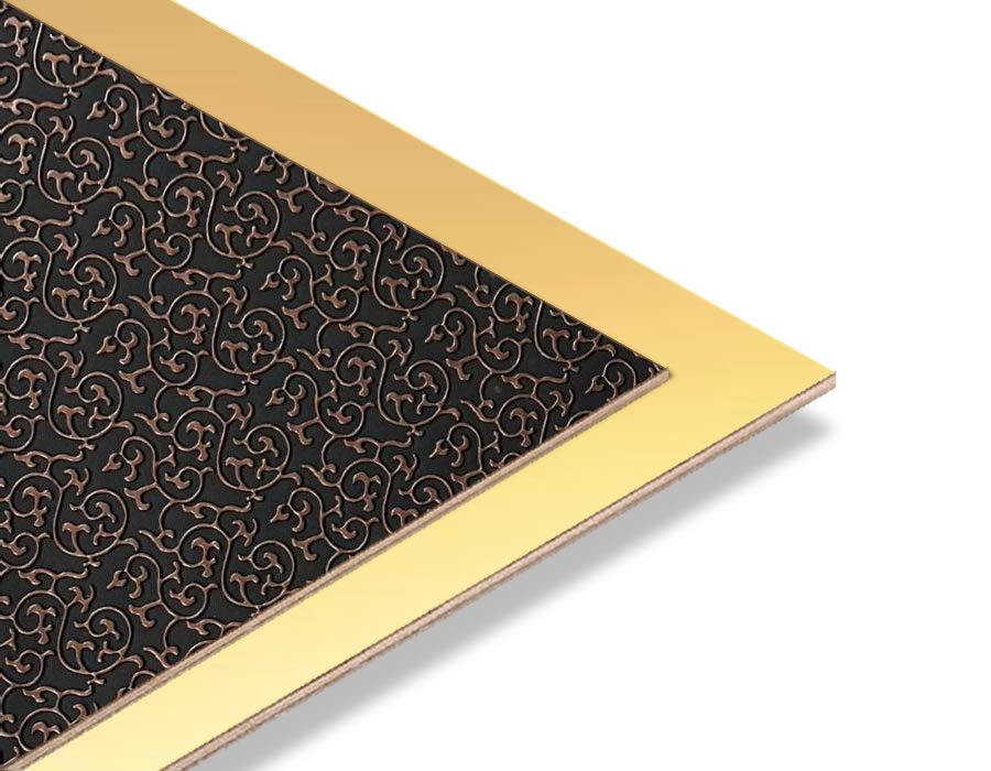 Brode Bakır - Altın Yaldız Mdf - 85x68 cm (1 Parça)