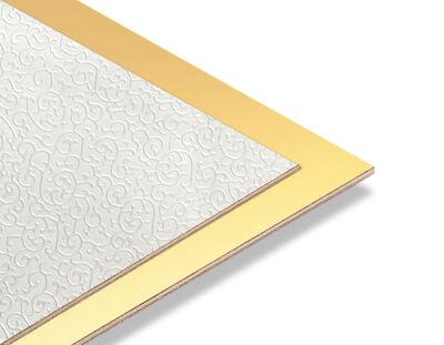 - Brode Beyaz - Altın Yaldız Mdf - 85x68 cm (1 Parça)