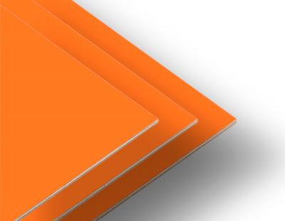 - Portakal Çift Yüz Boyalı 2.7mm Mdf - 105x85cm (4 Parça)