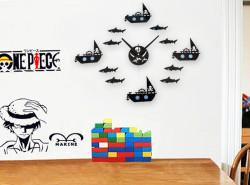 Büyük Duvar Saati Mekanizması - Siyah - Thumbnail