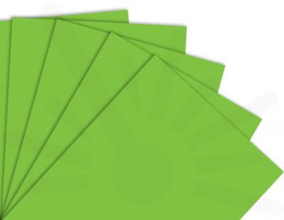 - Çim Yeşili Çift Yüz Boyalı 2.7mm Mdf - 60x40cm ( 5 Parça )