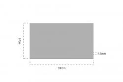 4.8mm Şeffaf Pleksiglas 67x100cm - Thumbnail