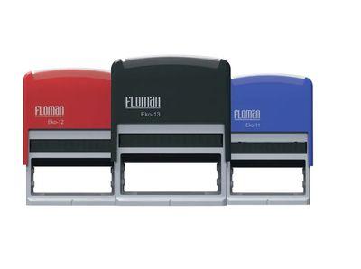 Floman - Otomatik Kaşe Eco-13 | 22x60mm Siyah