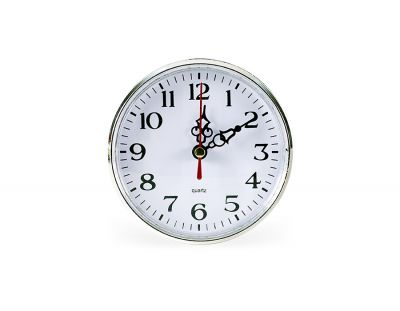 - Geçme Saat Çap:110mm Gümüş Pilsiz - (10 LU PAKET)