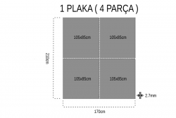Gediz Çift Yüz 2.7mm Mdf 105x85Cm (4 Parça) - Thumbnail