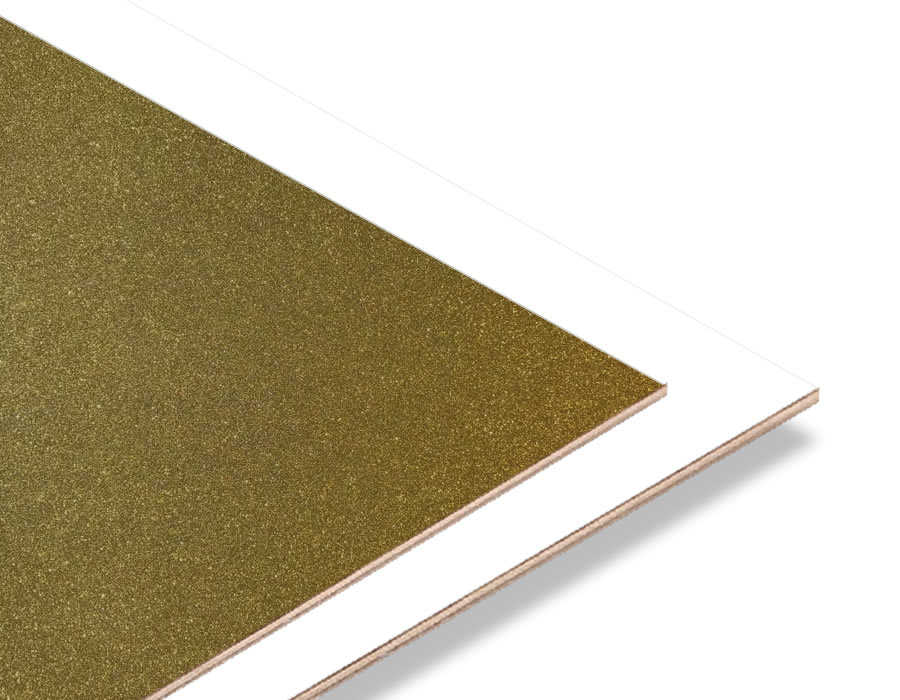 Gold Simli - Beyaz 2.7mm Mdf - 85x68 cm (1 Parça)
