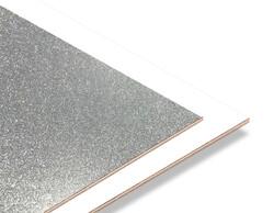 - Gümüş Simli - Beyaz 2.7mm Mdf - 85x68 cm (1 Parça)
