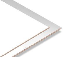 - Gümüş Yaldız - Beyaz 2.7mm Mdf - 85x68 cm (1 Parça)