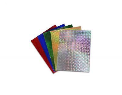 - Hologramlı Fon Kartonu 50x70 cm Karışık 10 Adet