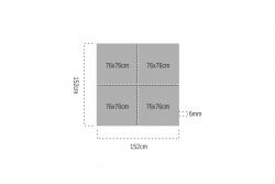 Huş Kontrplak 6mm 76x76cm (4 Parça) - Thumbnail