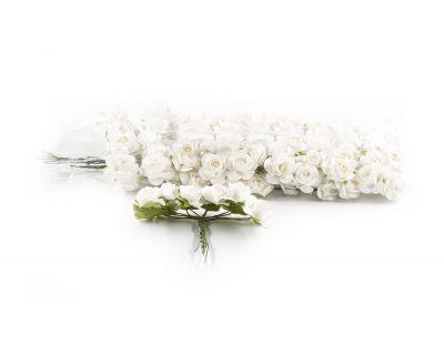 - Kağıt Gül Mini Beyaz 120 Adet