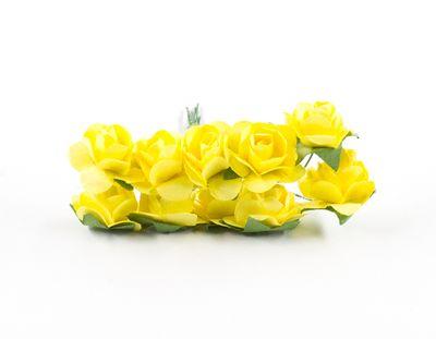 - Kağıt Gül Mini Sarı 120 Adet