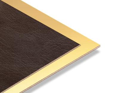 - Kahve Rengi Rustik - Altın Yaldız Mdf - 85x68 cm (1 Parça)