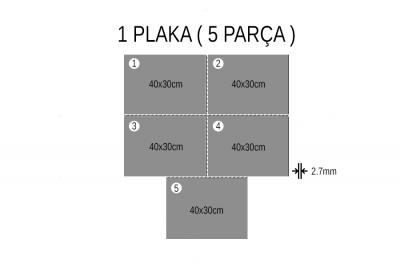 - Kar Beyaz Çift Yüz Boyalı 2.7mm Mdf - 30x40cm ( 5 Parça )